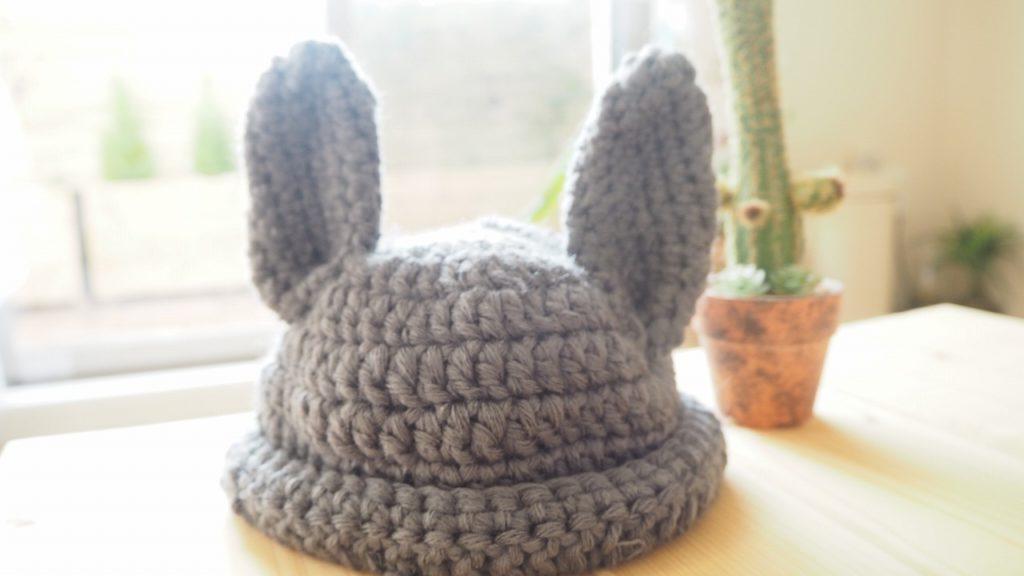 うさぎ帽子 編み物